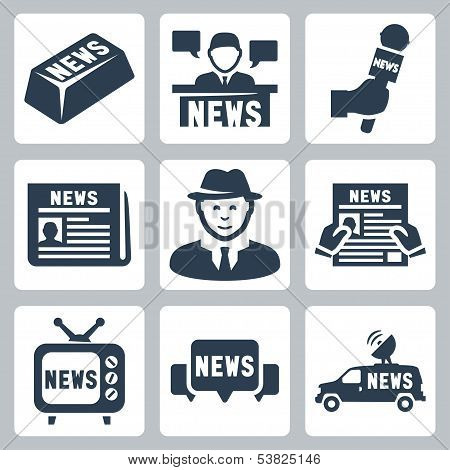 Vector News And Journalism Icons Set