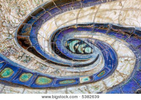Wall Swirl Mosaic