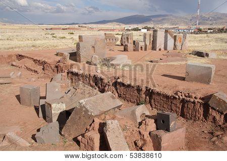 Megalithic blocks of Puma Punku Ruins, Tiwanaku