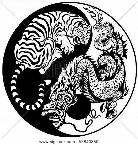 dragon and tiger symbol