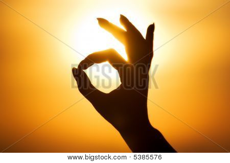 Ok Hand Sign Silhouette