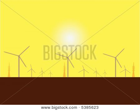 Solar Wind Mills