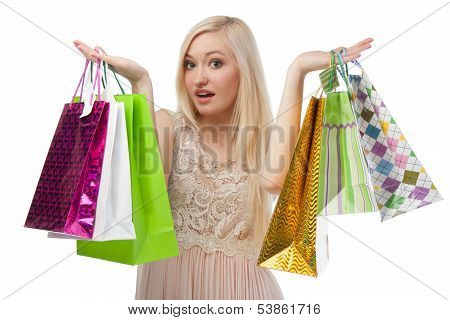 Woman Can Not Choose What To Buy