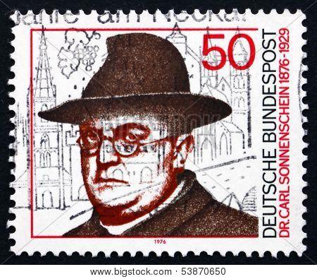 Postage Stamp Germany 1976 Dr. Carl Sonnenschein, Social Reforme