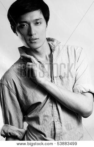 Fashion pose by male model