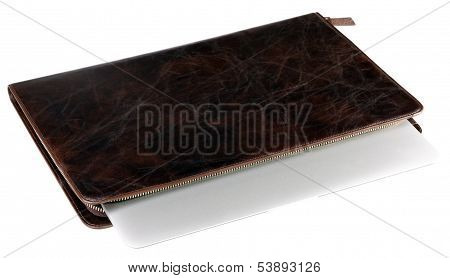 Notebook In Leather Crocodilian Notebook Cover Isolated