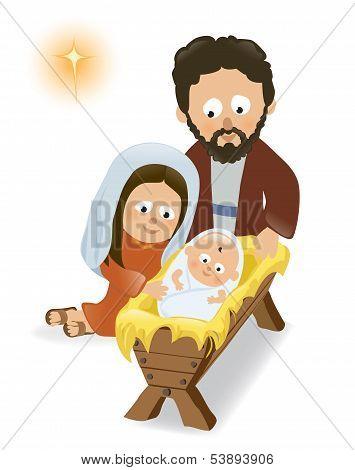 Baby Jesus, Mary and Joseph