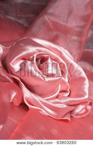 Pink silk.
