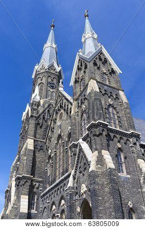 Facade Of Historic Church In Milwaukee