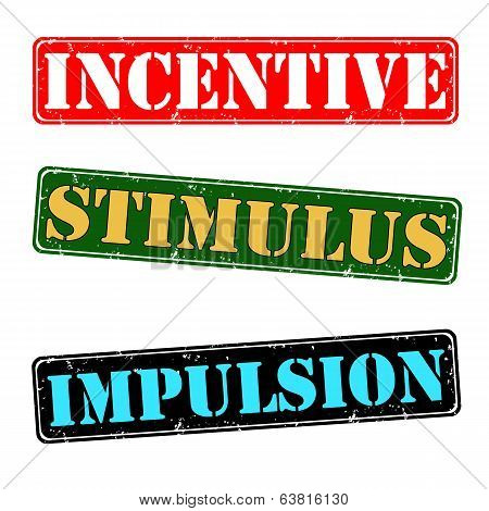 Incentive, Stimulus, Impulsion Stamps