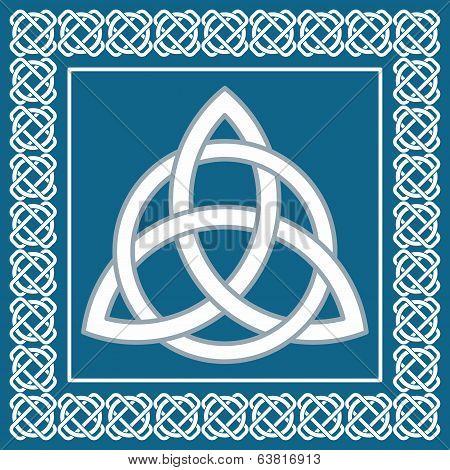 Ancient Symbol Triskel, Traditional Element For Celtic Ethnic Design -  Vector Illustration