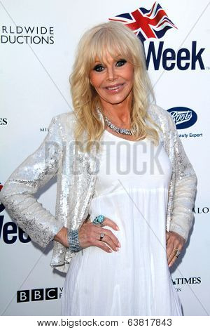 LOS ANGELES - APR 22:  Britt Ekland at the 8th Annual BritWeek Launch Party at The British Residence on April 22, 2014 in Los Angeles, CA