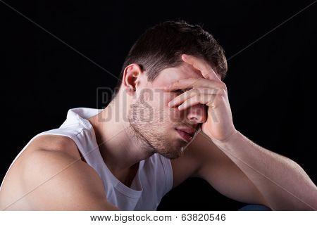 Sad And Tired Man