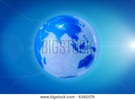 Glass Glossy Globe