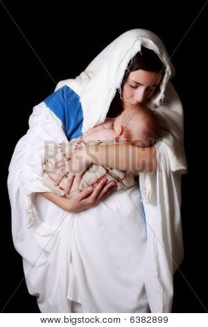 Mary Kissing Jesus