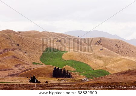 Climate Change Irrigated Green Field Drought Hills