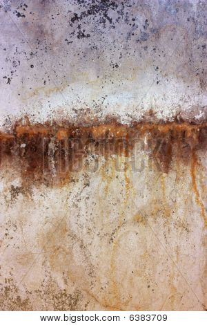 Wall Background With Rust Orange