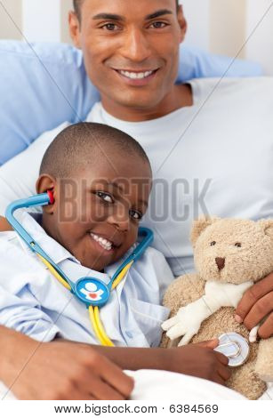 Father With His Sick Child