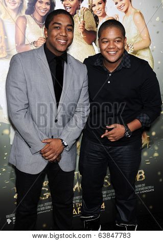 LOS ANGELES - MAR 10:  Kyle Massey & Chris Massey arrives to the Tyler Perry's