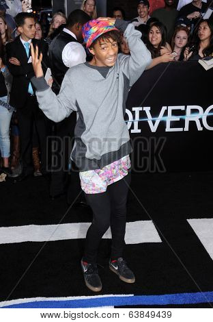 LOS ANGELES - MAR 18:  Jaden Smith arrives to the 'Divergent' Los Angeles Premiere  on March 18, 2014 in Westwood, CA