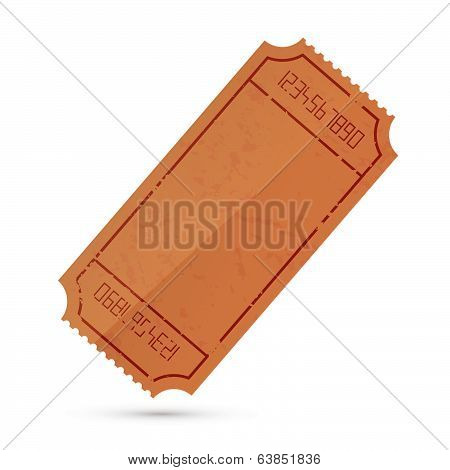 Vector Empty Ticket Illustration Isolated on White Background