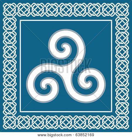 Symbol Triskelion Or Triskele, Traditional Element Typical For Celtic (scandinavian) Ethnic culture