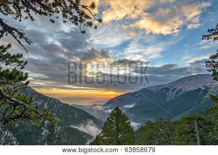 Sunset In Olympus Mountains