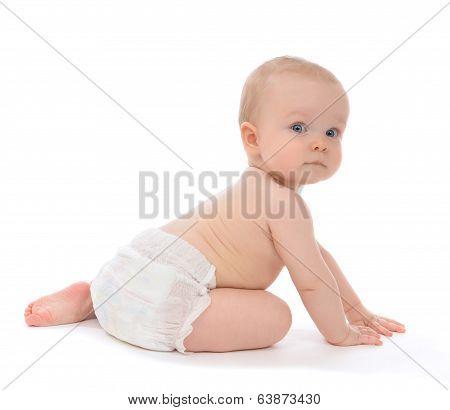 Infant Child Baby Toddler Sitting Crawling Backwards