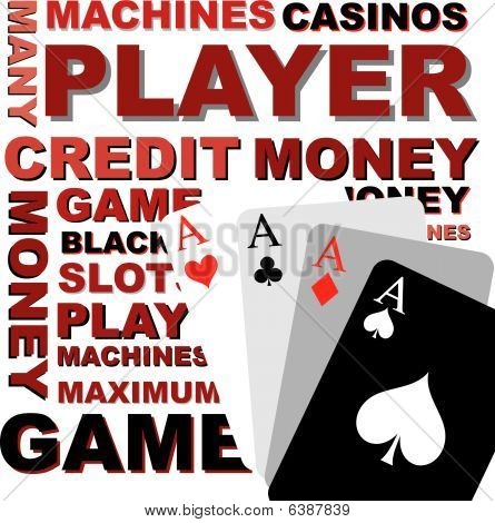 Poker Background, Vector Graphics