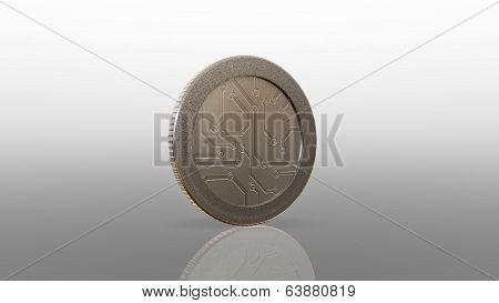 Digital Silver Coin 45 Degree