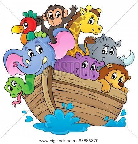 Noahs ark theme image 1 - eps10 vector illustration.