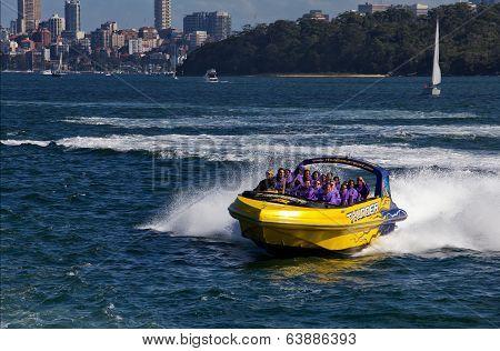 Thrilling jet boat ride on Sydney Harbour