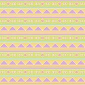 Seamless Tileable Vector Background Pattern in Pastel Tribal poster