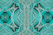 Wonderful abstract illustrated glass pattern in fantastic colors poster