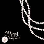 Beauty Pearl Background Vector Illustration. EPS 10 poster