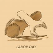 World Labor Day background with illustration of crossed wrenches on abstract background, can be use as flyer, banner or poster. poster