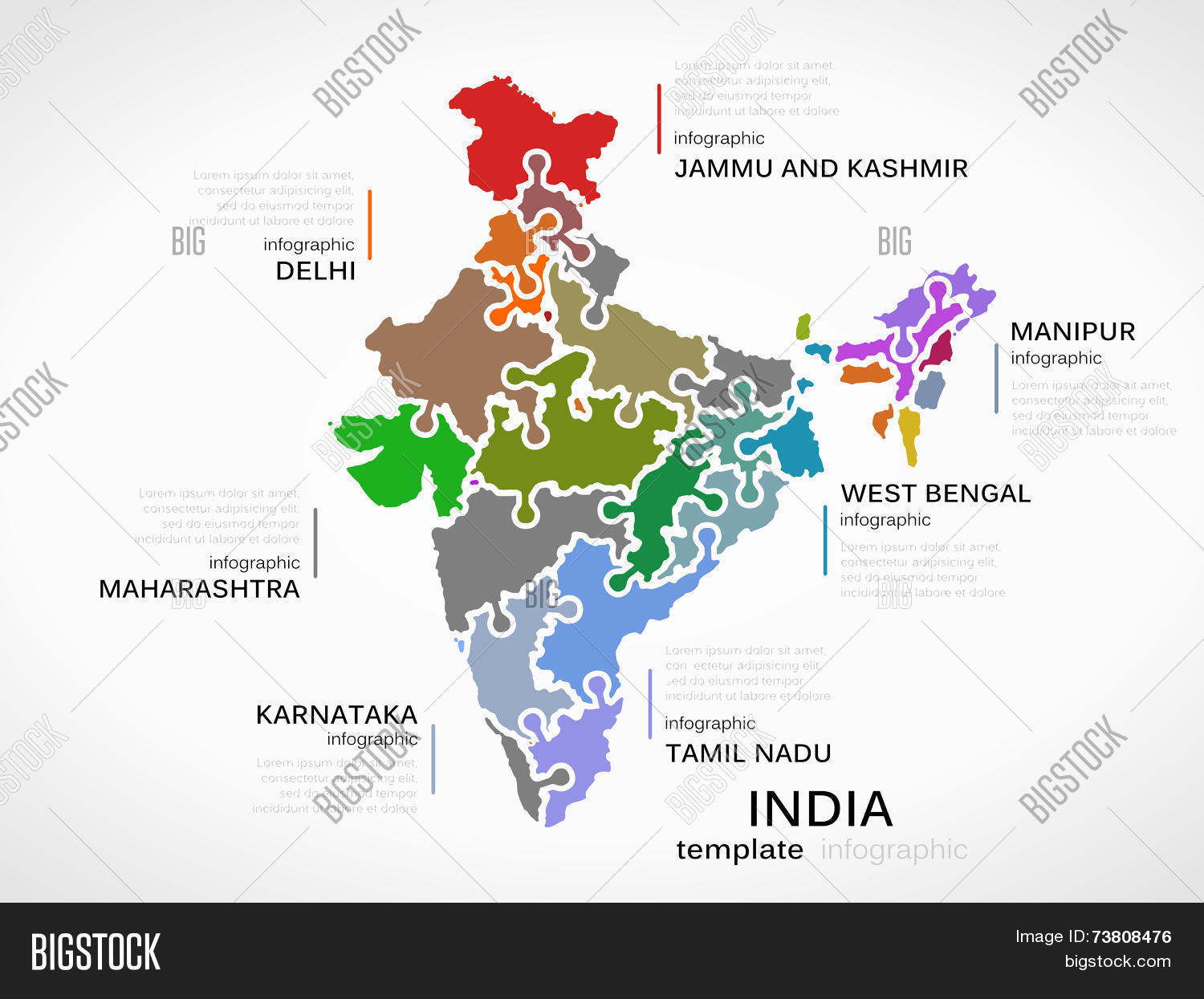 Indian Map Vector & Photo (Free Trial) | Bigstock
