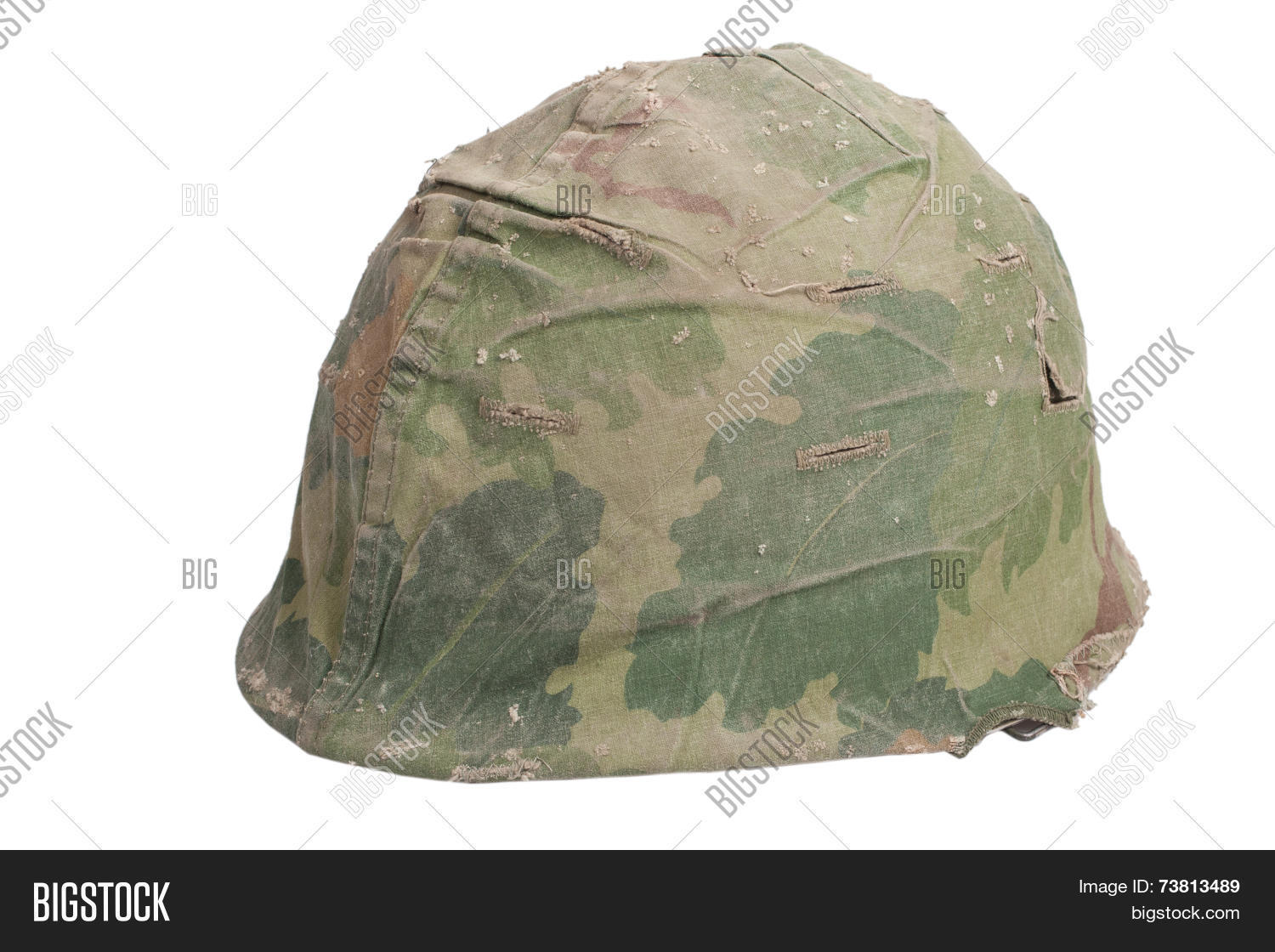 465f14a8 Us Army M1 Helmet With Mitchell Pattern Camouflage Cover Vietnam War Period