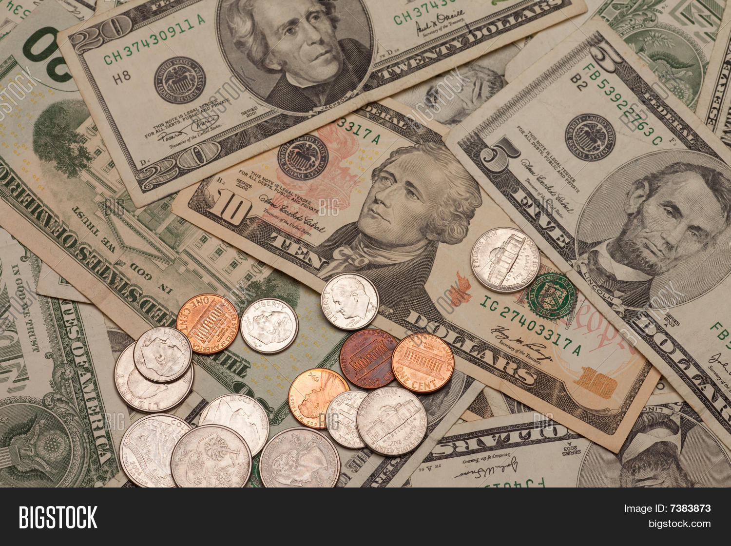 United States Currency Image Photo