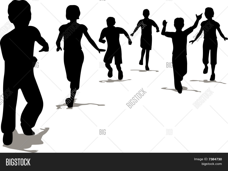 running children vector photo free trial bigstock rh bigstockphoto com child playing silhouette vector parent child silhouette vector