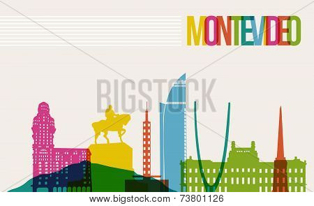 Travel Montevideo Destination Landmarks Skyline Background