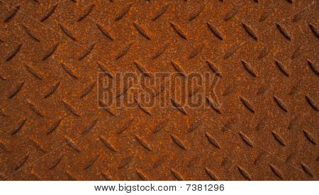 Rusted metal background.