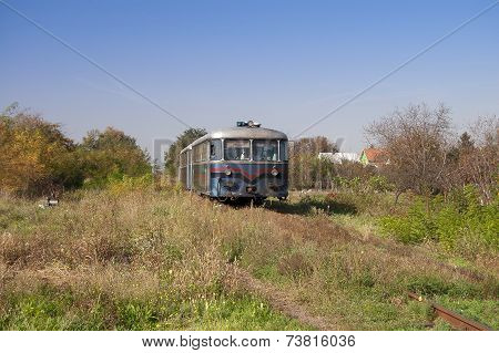 The old diesel engine passenger train