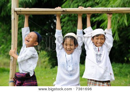 Muslim Boy Playing,  Pull Ups