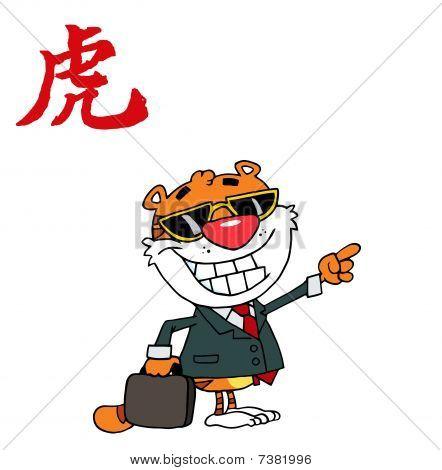 Tiger zeigen ein Jahr der chinesische Tiger-Symbol
