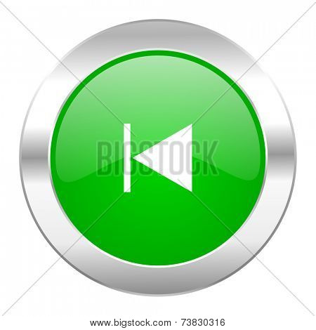 prev green circle chrome web icon isolated