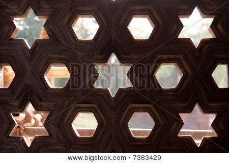 Stone Pattern In Qutb Minar, Delhi, India