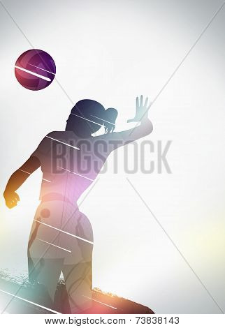 Volleyball Flat Design Background