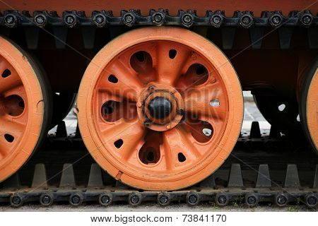 Rollers And Tracks Of The Tank