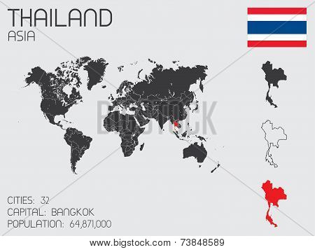 Set Of Infographic Elements For The Country Of Thailand